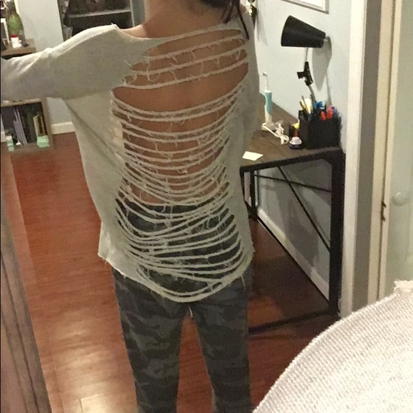 Tops - Open back sweater